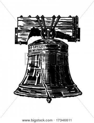 Liberty Bell - Retro Clipart Illustration