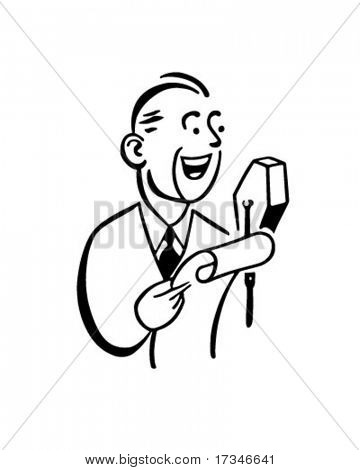 Master Of Ceremonies - Retro Clipart Illustration