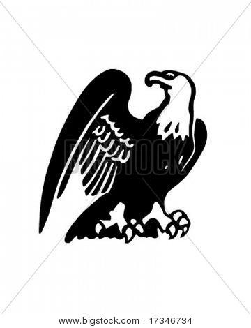 Proud Eagle - Retro Clipart Illustration