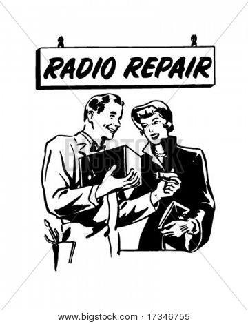 Radio Repair 2 - Ad Header - Retro Clipart