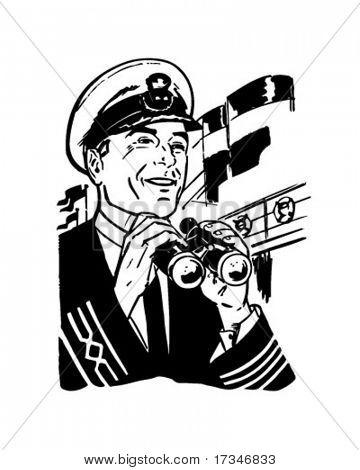 Ship's Captain - Retro Clipart Illustration