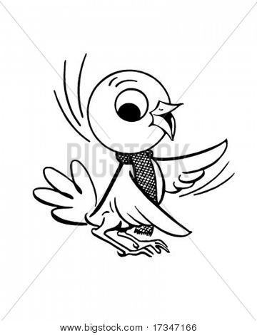 Early Bird - Retro Clipart Illustration