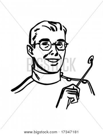 Dentist - Retro Clipart Illustration