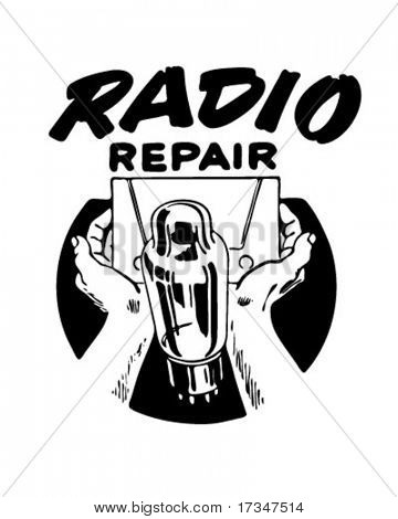 Radio Repair 3 - Ad Header - Retro Clipart