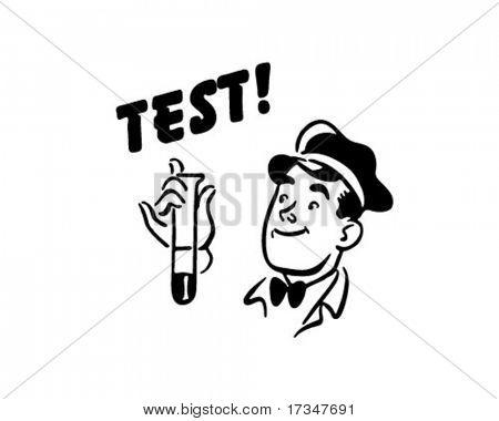 Test! - Service Station Mechanic - Retro Clipart