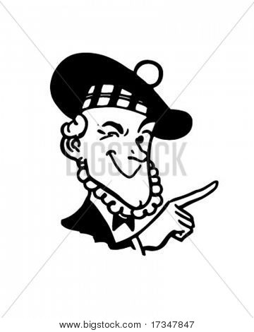 Thrifty Scotsman - Retro Clipart Illustration
