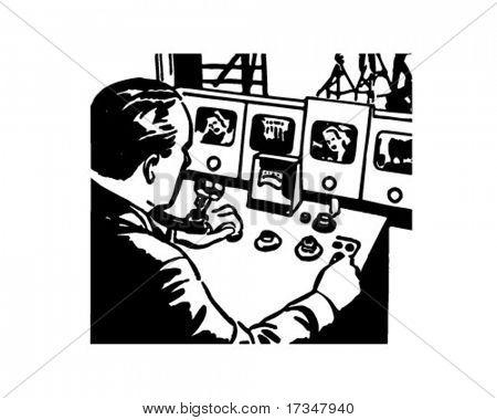 Broadcast Technician - Retro Clipart Illustration