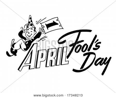 April Fool's Day - Ad-Header - Retro Clipart