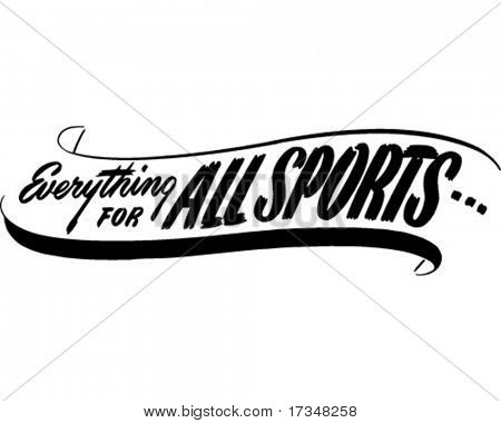 Everything For All Sports - Ad Banner - Retro Clipart