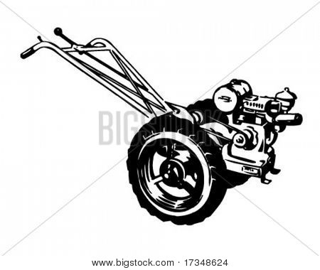 Tiller - Retro Clipart Illustration