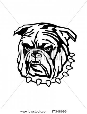 Meine Bulldogge - Retro Clipart Illustration