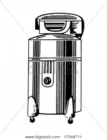 Wringer Washing Machine - Retro Clipart Illustration