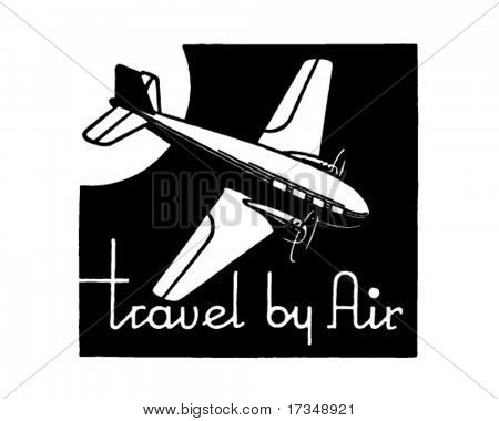 Travel By Air - Retro Ad Art Banner