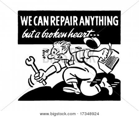 We Can Repair Anything - Retro Ad Art Banner