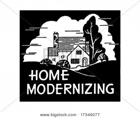 Home Modernizing - Retro Ad Art Banner