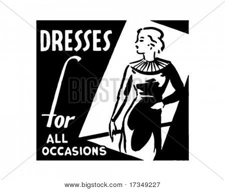 Dresses For All Occasions - Retro Ad Art Banner