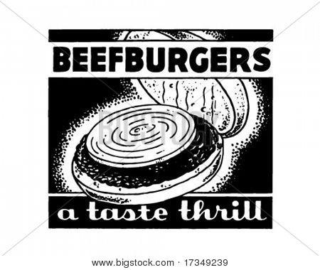 Beefburgers - Retro Ad Art Banner