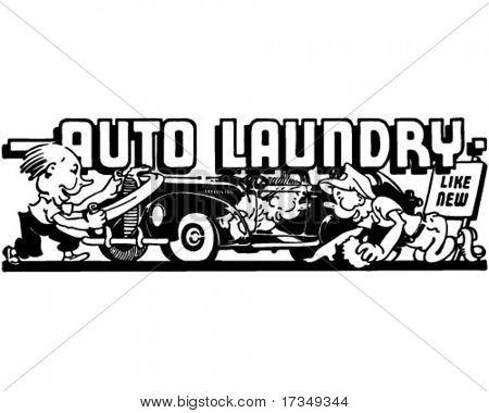 Auto Laundry 2 - Retro Ad Art Banner