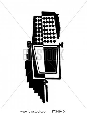 Retro Microphone - Ad Art Illustration