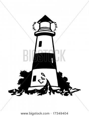 Lighthouse 2 - Retro Ad Art Illustration