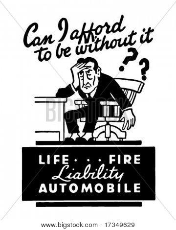 Haftung - Life Feuer Automobile - die Kunst des Retro Werbebanner
