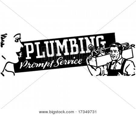 Plumbing - Retro Ad Art Banner