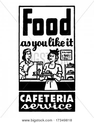 Food As You Like It 2 - Retro Ad Art Banner