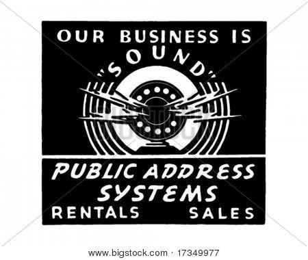 Public Address System - Retro Ad Art Banner