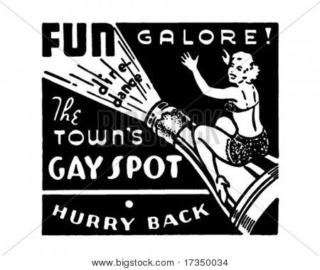The Town's Gay Spot - Retro Ad Art Banner