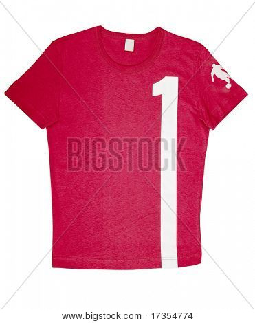red  man fashion sport t-shirt