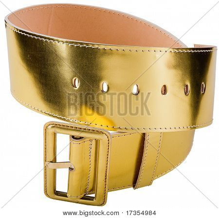 gold woman fashion belt