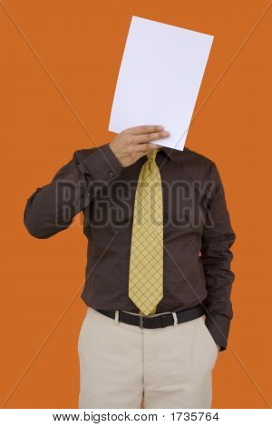 Businessman Paper Face