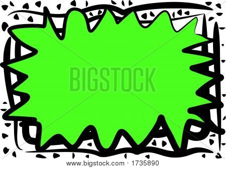Chaotic Green Abstract Border