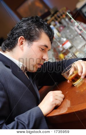 Drunk Man In A Bar