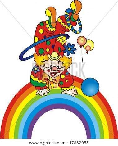 Clown on a rainbow