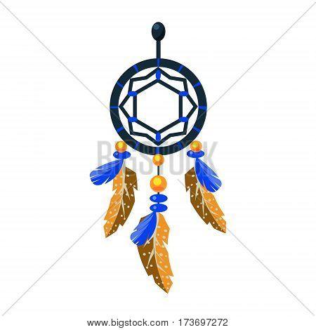 Decorated Dreamcatcher Charm Native American Indian Culture Symbol