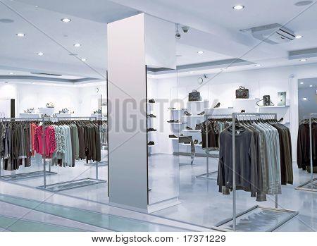 tienda de moda de noche azul