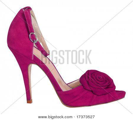 red velvet shoe
