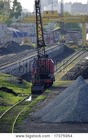 railway crane