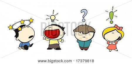 set of images of funny kids on a white background #14, expression icons theme