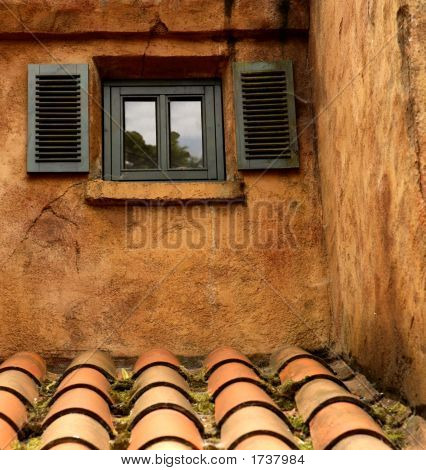 Little Window With Two Shutters