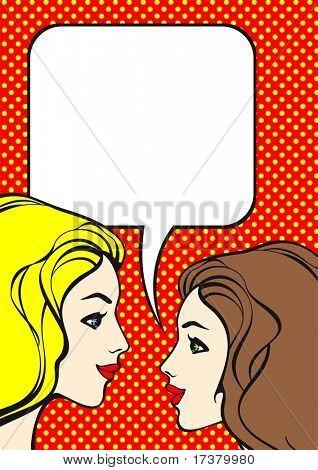 Meninas de estilo de quadrinhos
