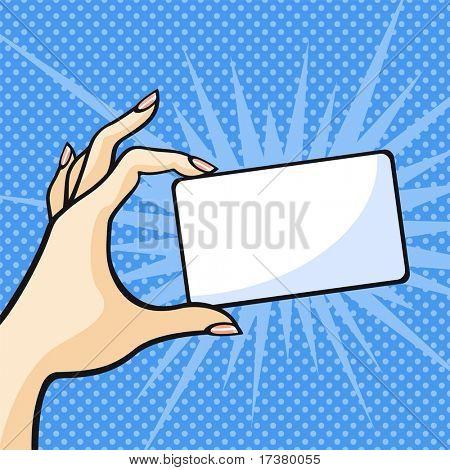 Mano con una tarjeta de
