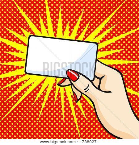 Mão com um cartão (versão raster)