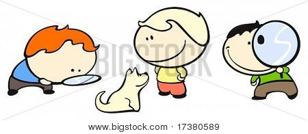 Set of images of funny kids on a white background #34, search theme