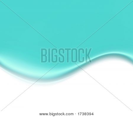 Abstract Wave Over White
