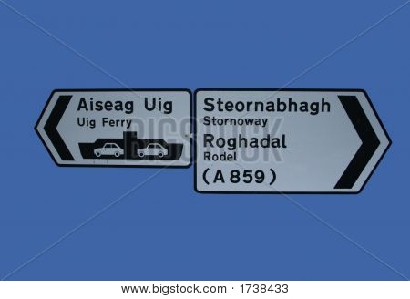 Bilingual Road Signs