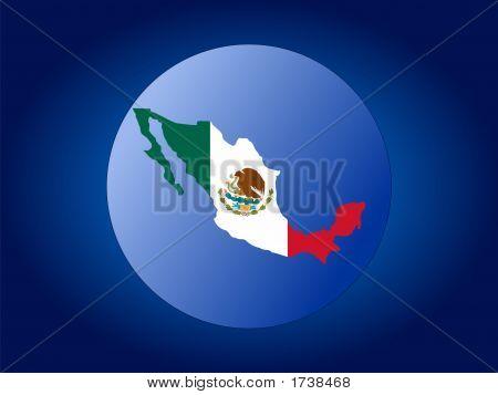 Mexican Flag Globe