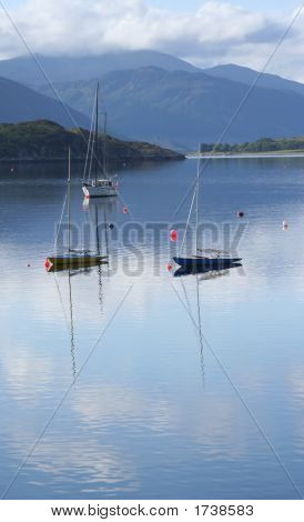 Boats On Loch Broom