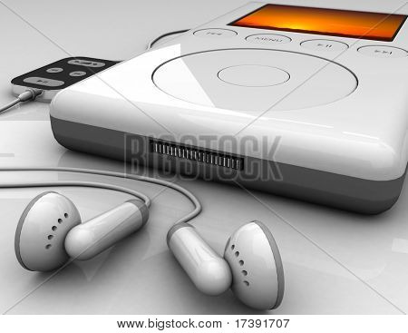 Audio system on a white background